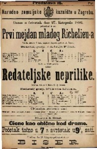 Prvi mejdan mladog Richelieu-a Vesela igra u 2 čina / napisao Bayard