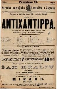 Antixantippa Vesela igra u 5 čina / napisao R. Kneisel