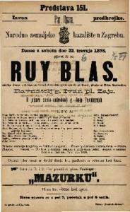 Ruy Blas lirička drama u 4 čina / glasba od Filipa Marchetti-a ; od Vorlad'Ormevilla