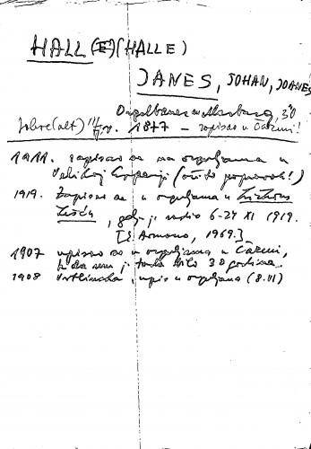 Hell (Halle) Janes, Johan, Joanes