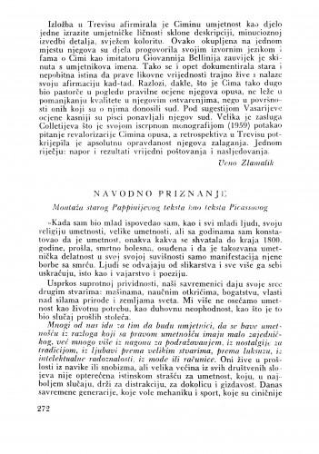 Jedna značajna izložba u Ljubljani : Bulletin Zavoda za likovne umjetnosti Jugoslavenske akademije znanosti i umjetnosti