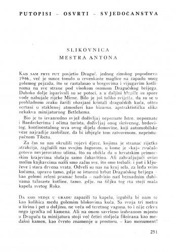 Slikovnica meštra Antona : Bulletin Instituta za likovne umjetnosti Jugoslavenske akademije znanosti i umjetnosti