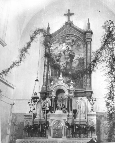 Medović, Mato Celestin (1857-11-17 1920-1-20) : Glavni oltar župne crkve sv. Martina u Beramu - oltarna pala sv. Martina