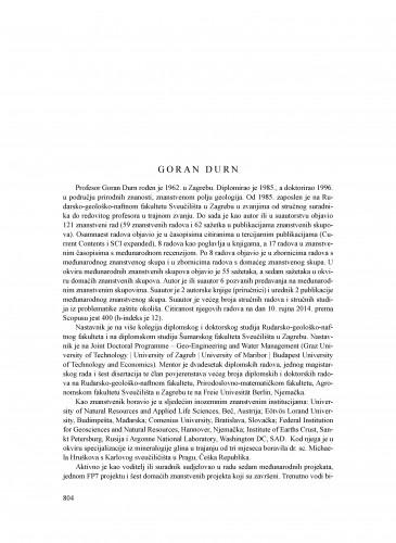 Goran Durn : Ljetopis