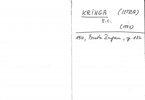 Kringa (Istra) ž. c.