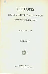 Za godinu 1931/32. Sv. 45 : Ljetopis