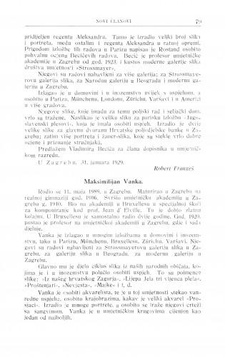 Maksimilijan Vanka / R. Frangeš Mihanović