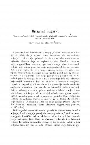 Humanist Šižgorić