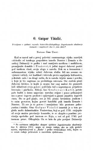 O. Gašpar Vińalić
