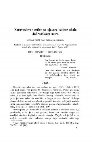 Naravoslovne crtice sa sjevero-istočne obale Jadranskoga mora