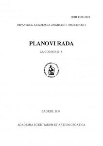 Planovi rada za godinu 2015 : Planovi rada