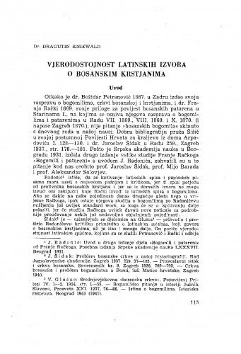 Vjerodostojnost latinskih izvora o bosanskim krstjanima