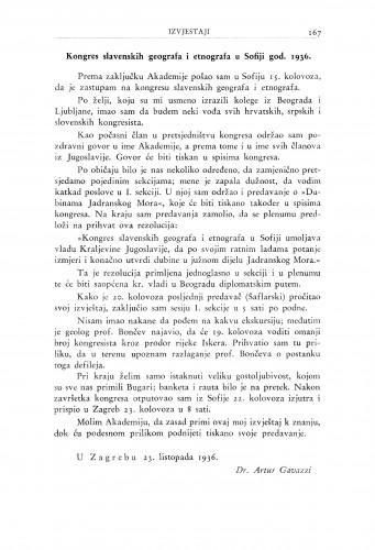 Kongres slavenskih geografa i etnografa u Sofiji god. 1936 / A. Gavazzi