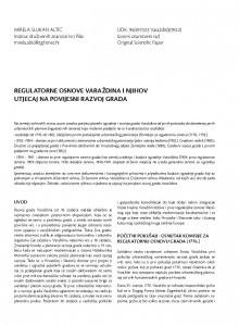 Regulatorne osnove Varaždina i njihov utjecaj na povijesni razvoj grada