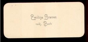 Emilija Granec rodj. Bach