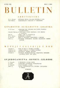God. 7(1959), Br. 3 : Bulletin Instituta za likovne umjetnosti Jugoslavenske akademije znanosti i umjetnosti