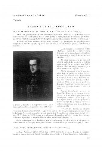 Ivanec i obitelj Kukuljević