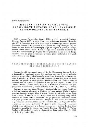 Istočna granica Tomislavove, Krešimirove i Zvonimirove Hrvatske u savsko-dravskom interamniju