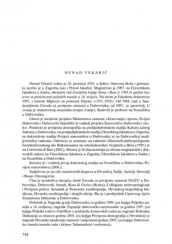 Nenad Vekarić : Ljetopis
