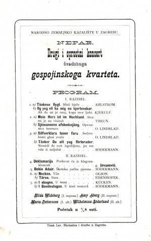 Drugi i oprostni koncert švedskoga gospojinskoga kvarteta