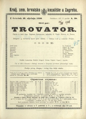 Trovator ; Trovator : Opera u četiri čina: Opera u četiri čina