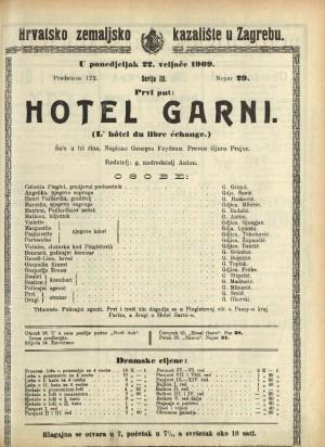 Hotel Garni Šala u tri čina  =  L' hôtel du libre échange