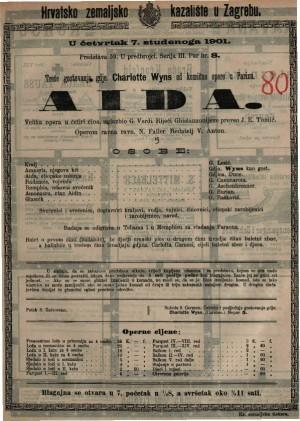Aida velika opera u četiri čina / od Verdi-a