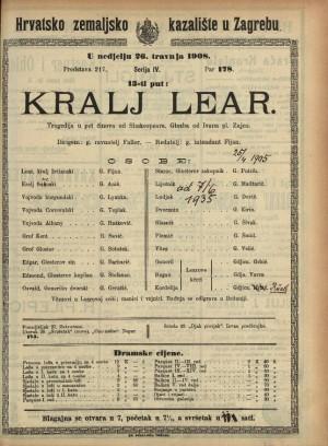 Kralj Lear : Tragedija u pet činova
