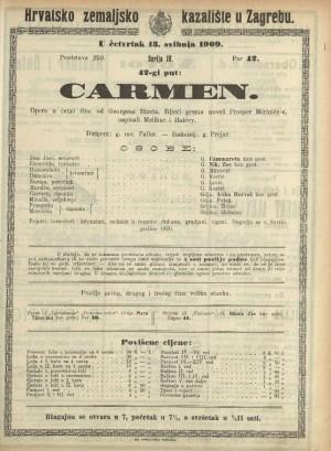 Carmen Opereta u četiri čina