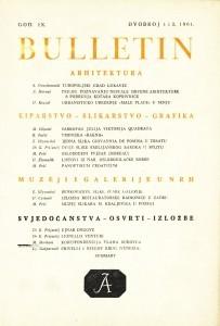 God. 9(1961), Br. 1-2 : Bulletin Zavoda za likovne umjetnosti Jugoslavenske akademije znanosti i umjetnosti