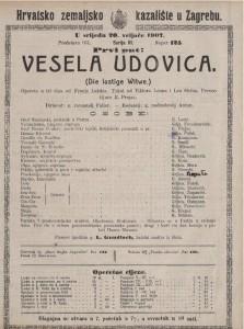 Vesela udovica opereta u tri čina