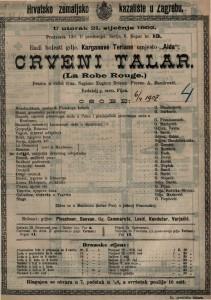 Crveni talar drama u četiri čina / napisao Eugène Brieux