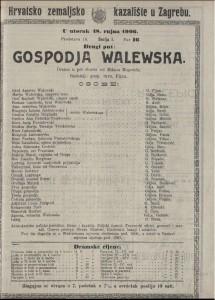 Gospođa Walewska drama u pet činova / od Milana Begovića