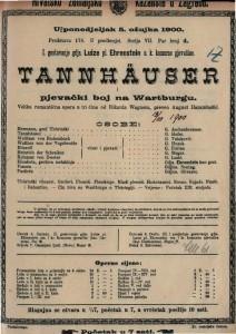 Tannhäuser i pjevački boj na Wartburgu velika romantična opera u tri čina / od Rikarda Wagnera