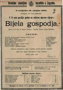 Bijela gospodja opera u tri čina / uglazbio Franjo Adrien Boieldieu