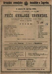Priče kraljice Navarske vesela igra u pet činova / napisao Scribe