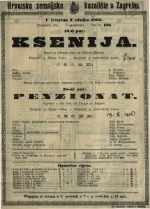 Ksenija : opera u jednom činu / od Viktora Parme