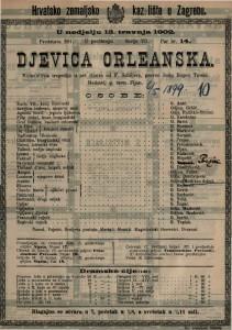 Djevica orleanska : romantična tragedija u pet činova / od F. Schillera