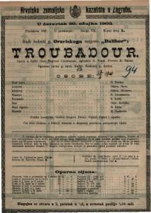 Troubadour opera u četiri čina / uglazbio G. Verdi