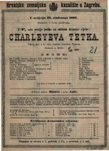 Cherleyeva tetka : Šaljiva igra u tri čina / napisao Brandon Thomas