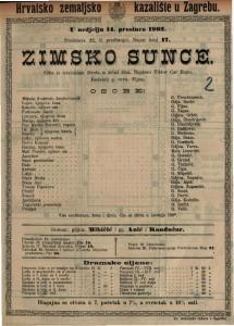Zimsko sunce : slika iz istarskoga života u četiri čina / napisao Viktor Car Emin
