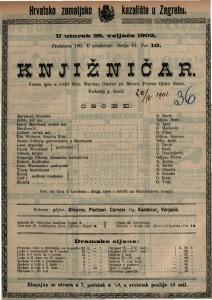 Knjižničar : vesela igra u četiri čina / napisao Gustav pl. Mozer