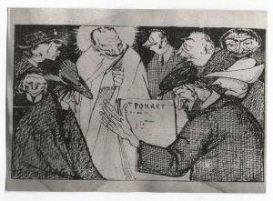 Karikatura A. G. Matoša u časopisu