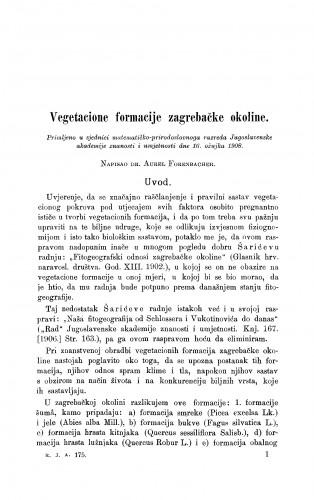 Vegetacione formacije zagrebačke okoline