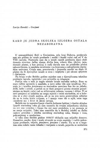 Kako je jedna školska izložba ostala nezaboravna / L. Karalić