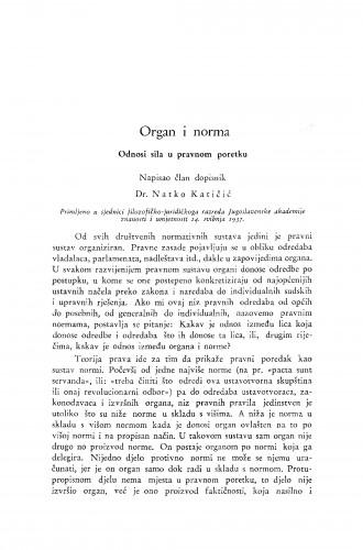 Organ i norma