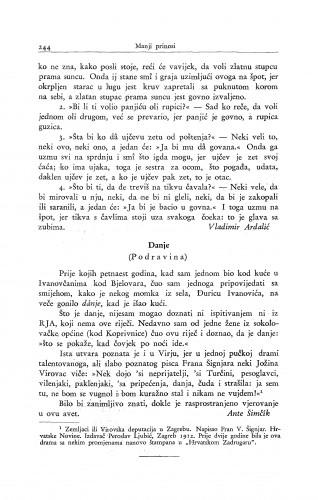 Danje : (Podravina.) / A. Šimčík