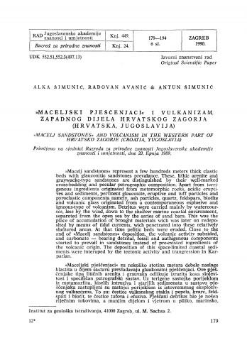 Maceljski pješčenjaci i vulkanizam zapadnog dijela Hrvatskog Zagorja (Hrvatska, Jugoslavija)