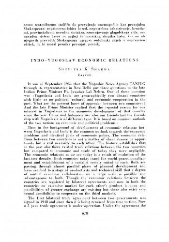 Indo-Yugoslav Economic Relations