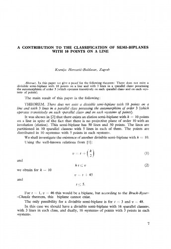 A contribution to the classification of semi-biplanes with 10 points on a line